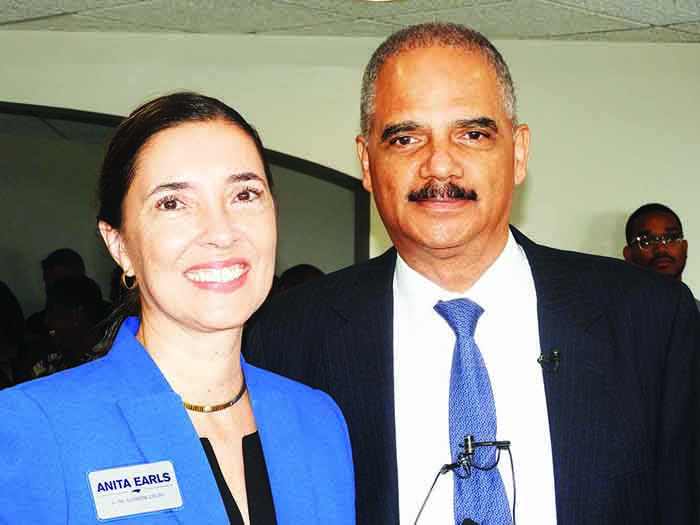 Anita Earls and Eric Holder