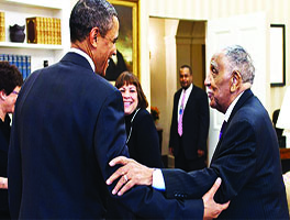 Barack Obama and Joseph Lowery