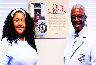 Dr. Da'Tarvia Parris and LC President, Dr. Jimmy R. Jenkins, Sr.
