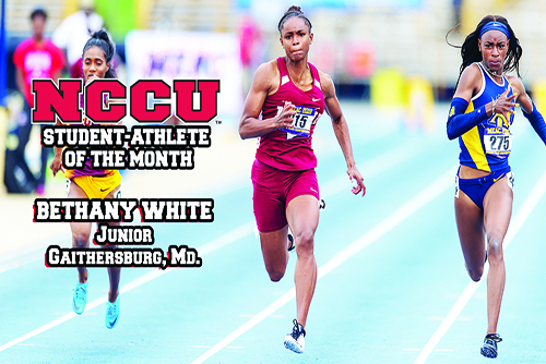 NCCU Student Athlete of the Month: May 2018