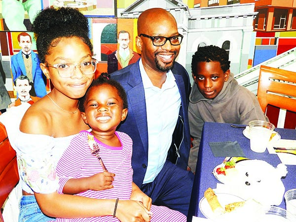 Willie Griffin and his children